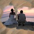Скъсана снимка в пясъка