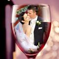 Сватбена двойка в една чаша