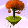 Фантастична сцена с дърво