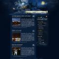 Уеб дизайн на тема магическа нощ