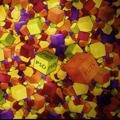 3D цветен кубичен дизайн