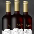 Реалистична бутилка вино