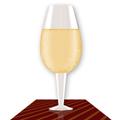 Реалистична чаша вино от един пиксел