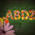 Текст от цветове на цветя