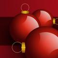 Дизайн на коледна картичка с три празнични топки