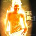 Човек в пламъци