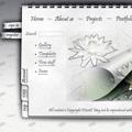 Дизайн на уеб страница ''White Notebook Style''