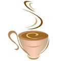 Лого чашка с кафе
