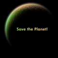 "Илюстрация, тапет ""Спаси планета"""