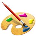 Палитра и четка за рисуване