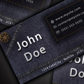 Дизайн на оригинална визитка в джинсов стил