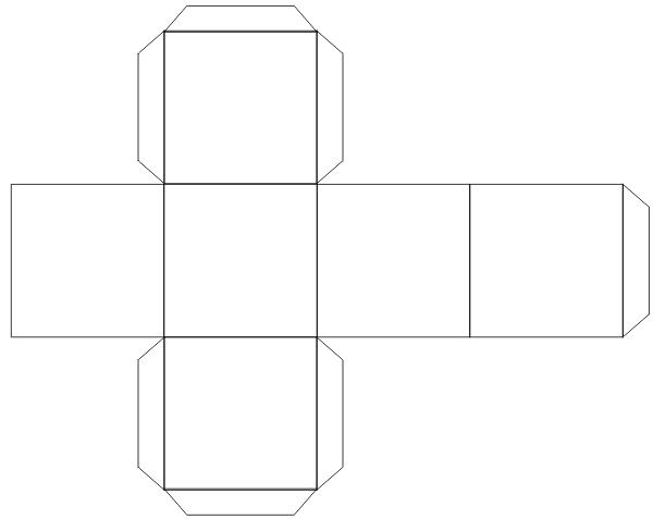 Как сделать параллелепипед шаблон 679