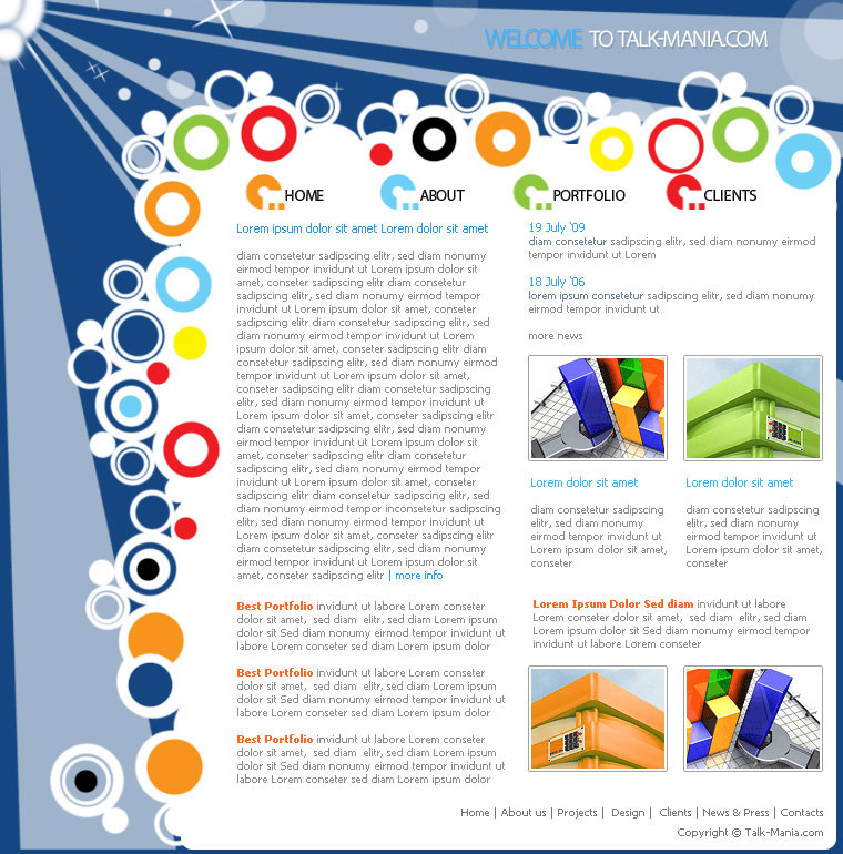 Дизайн сайт на смартфоне
